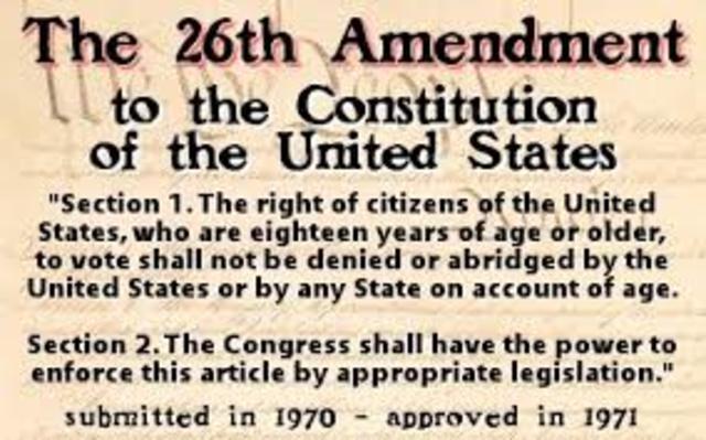 26th amendment ratified