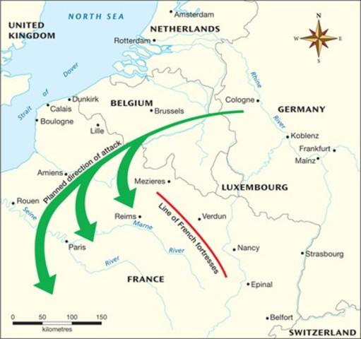Germany declares War/ Schliffen Plan