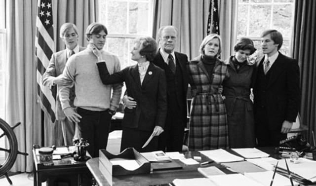 The Ford Family at the concession to Jimmy Carter