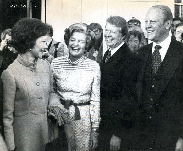 Inauguration day (handing the reins to Jimmy Carter)