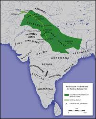 Delhi sultanate est. in india