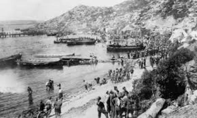 The landing of Gallipoli