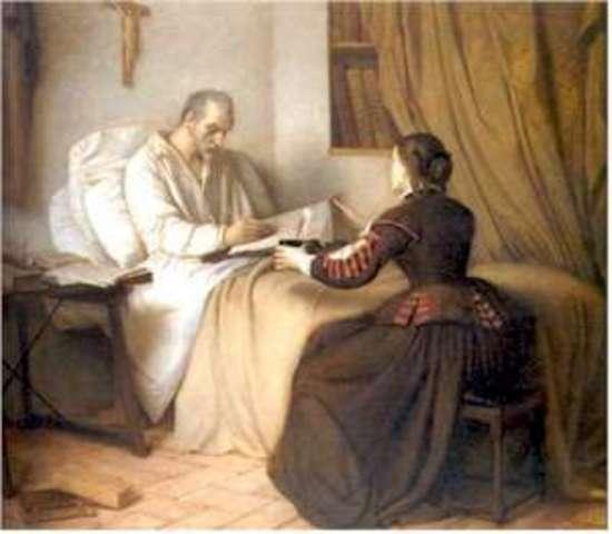 Don Quijote con su sobrina y con su ama, cap.6