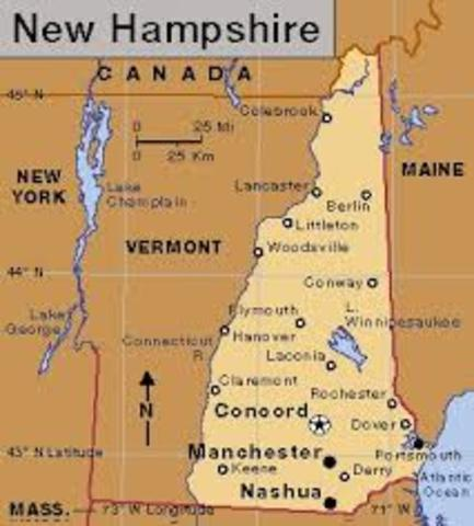 New Hampshire is settled