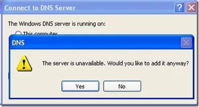 ошибка в DNS Network Solutions