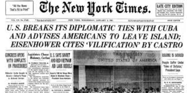 Ruptura de Relaciones Diplomáticas EEUU-CUba