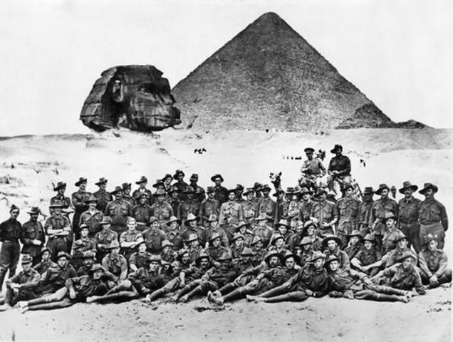 Australian troops in Egypt
