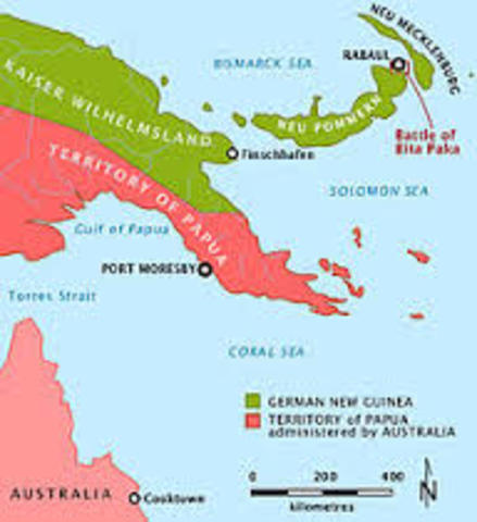 Capture of the German New Guinea