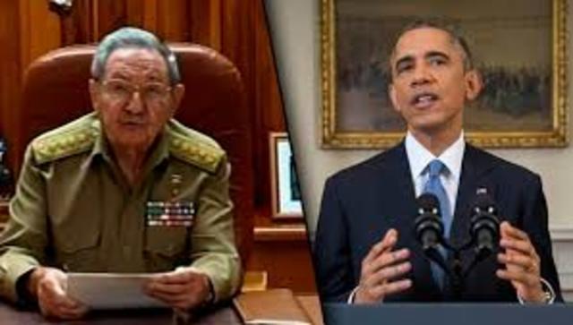 Anuncio del restablecimiento de las relaciones Cuba-EEUU