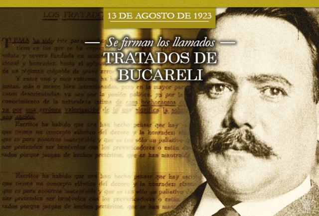 Tratados de  Bucareli firmados por EU y México