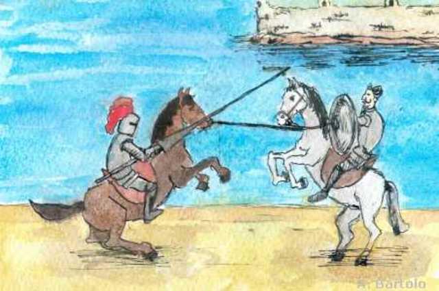 El Enfrentamiento con el Caballero de la Blanca Luna, cap.64