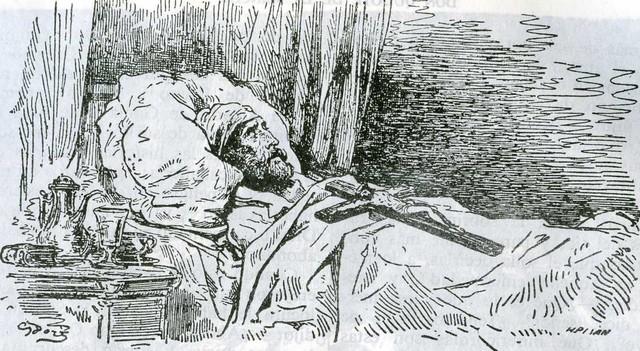 Enfermedad, Testamento y Muerte de Don Quijote, cap.74