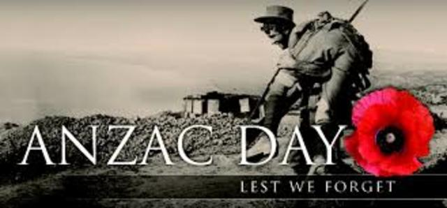 First ANZAC day