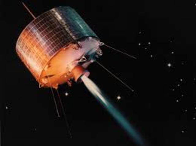 Syncom communications satellites launched