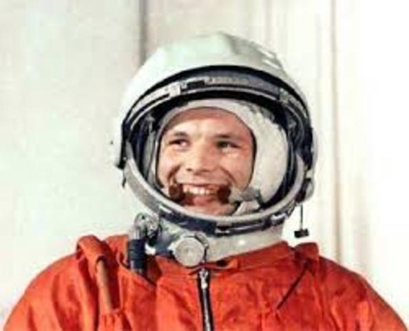 Yuri Gagarin becomes the first human in space