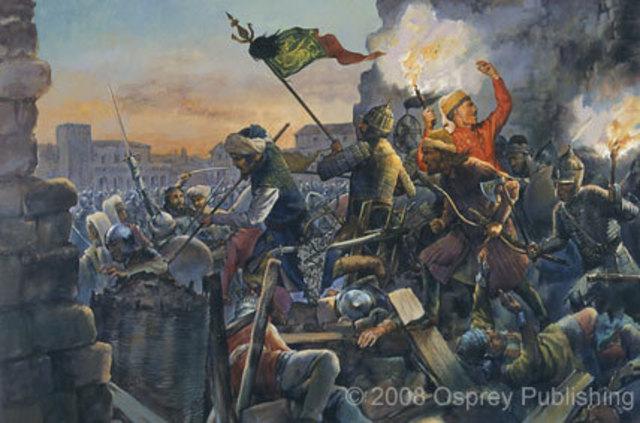 Ottoman Empire conquers Contantinople, end of Byzantine Empire