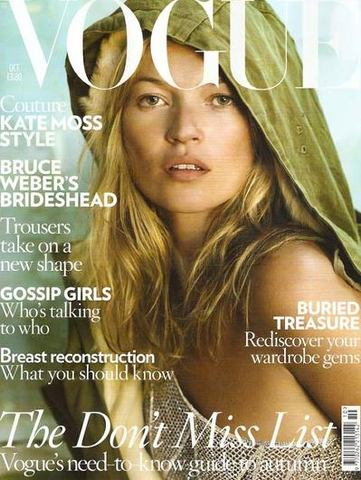 Kate Moss Covers Vogue for the First Time