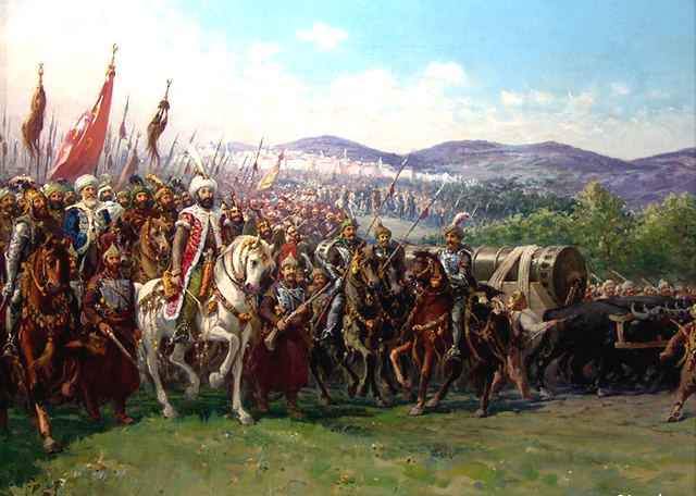 Ottoman Empire conquers Constantinople, end of Byzantine Empire