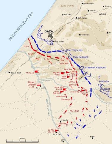 Battle of Beersheba - Fail of Gaza and Jerusalem