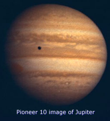 Pioneer 10 sent to the outer solar system