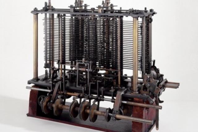 Steam-driven calculating machine