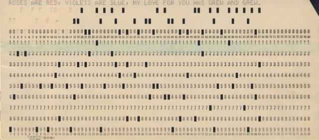 Punch card system to calculate