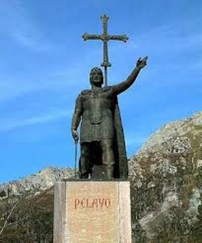 La batalla de Covadonga.