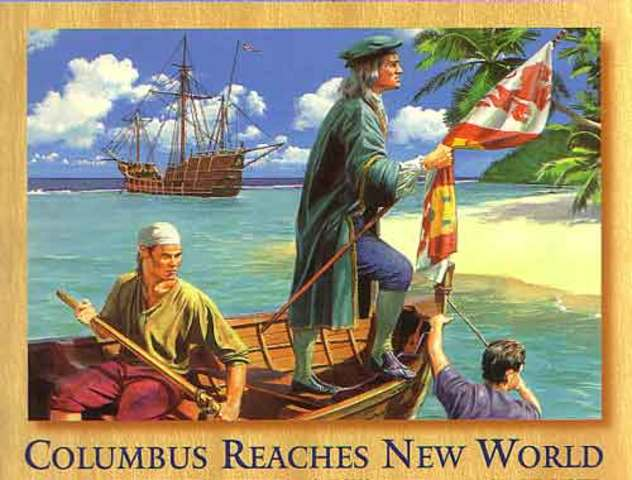 Columbus Discovers New World
