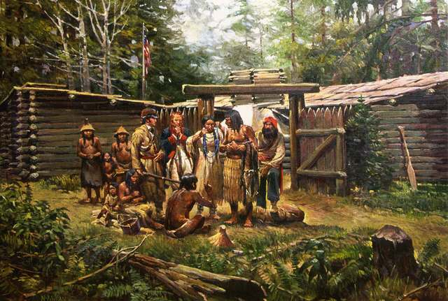 Arrival at Fort Clatsop