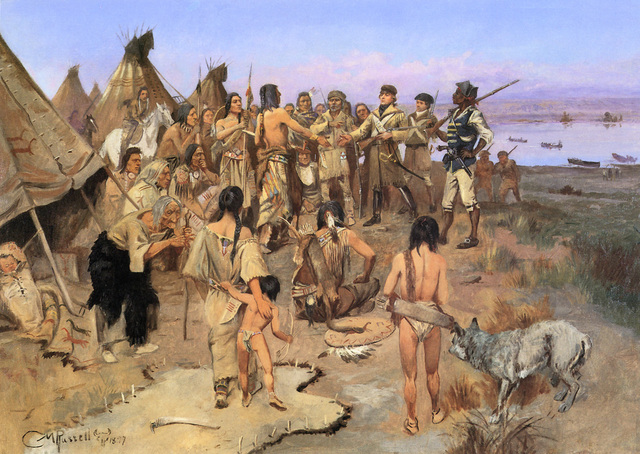 Peacful Trade With Missouri Indians