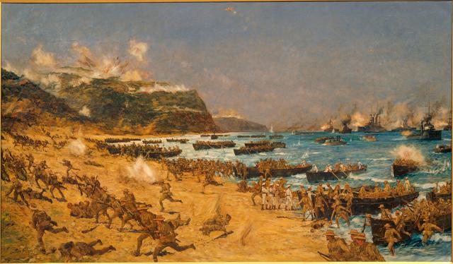 Australians land at ANZAC Cove