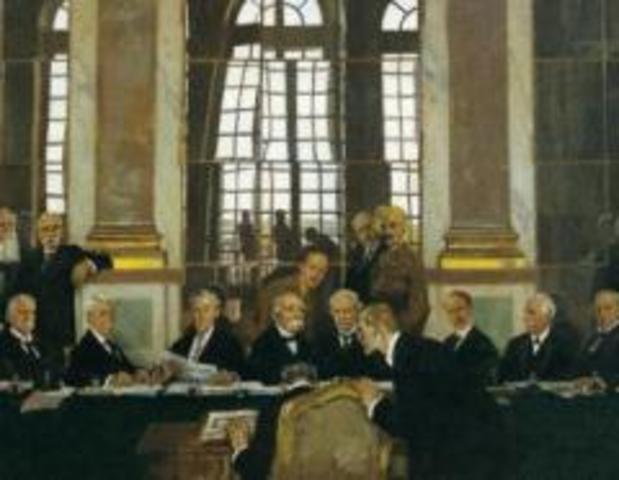Firma del Tratado de Paz firmado en Versalles