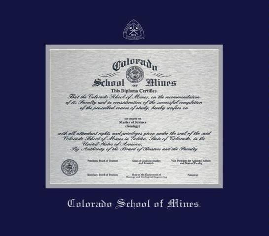 I graduate Colorado School of Mines with a degree in chemical engineering