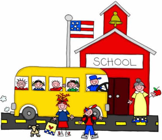 Luke starts school