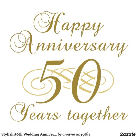 My husband and I celebrate our 50th wedding anniversary