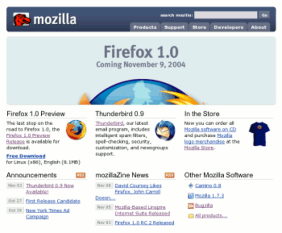 Mozila's Firefox 1.0