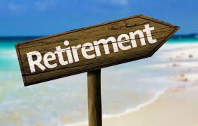 I retire