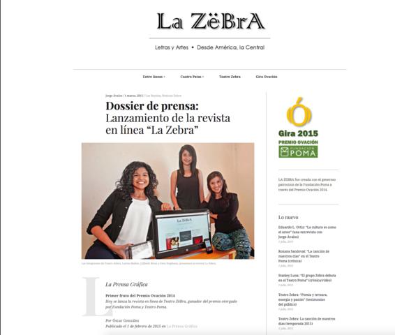 "Nace revista ""La Zebra"""