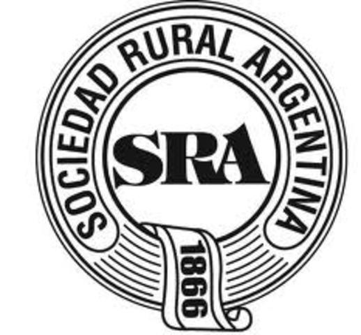 Se funda la sociedad rural argentina