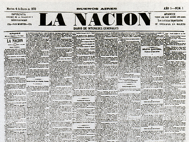 comienza a editarse el diario La Nacion