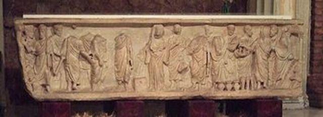 Sarcófago paleocristiano de la Trilogía Petrina