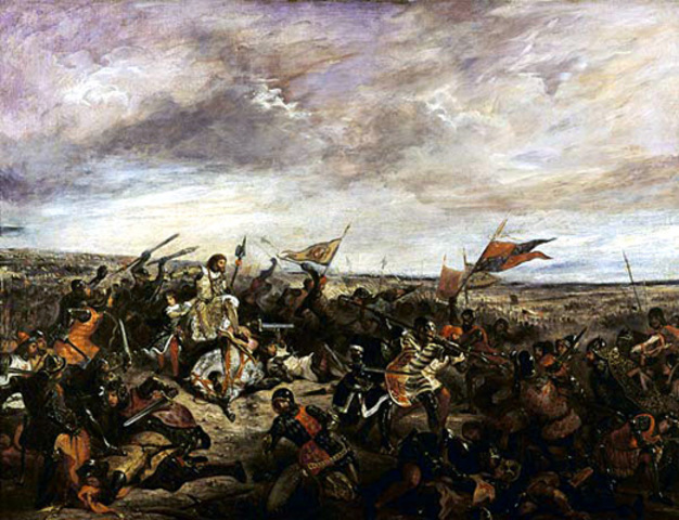 The battle of Poitiers ends