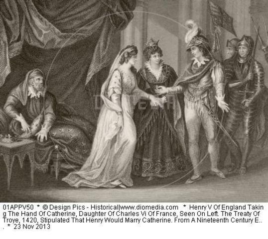 Henry V marries Catherine