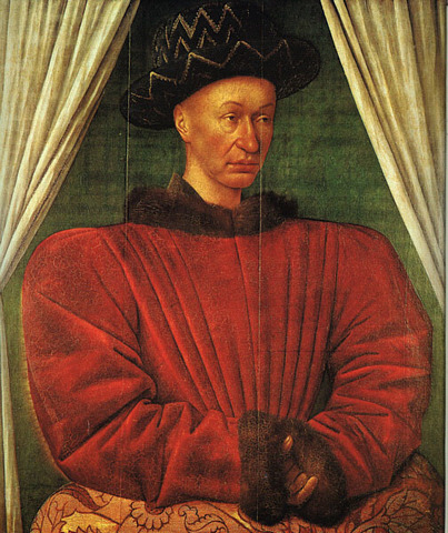 The dauphin proclaims himself Charles VII of France