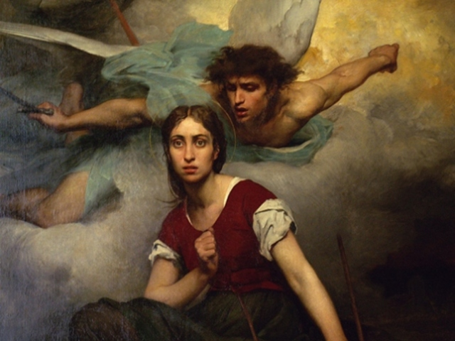 Joan of Arc hears the voices of saints