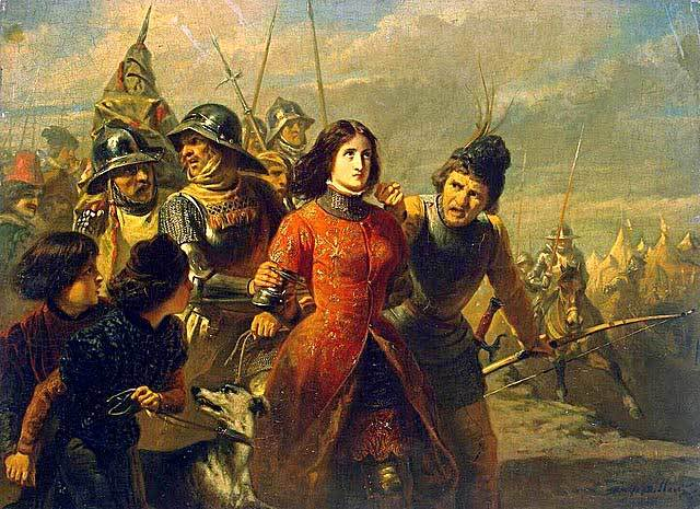 Joan of Arc is captured in a skirmish