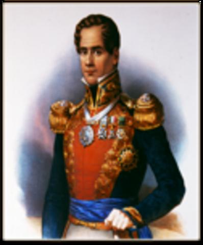 Santa Anna became president. (Political) Mexico