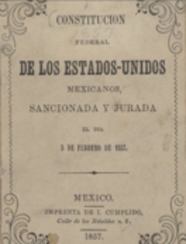 The Federal Constitution of Mexico was approved (Political) Mexico