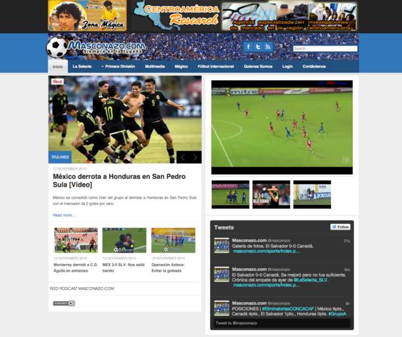 """Nace blog deportivo """"Masconazo"""""""