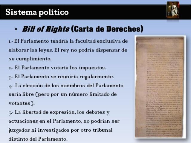 La carta de Derechos Bill of Rights